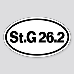 St. George Marathon 26.2 Oval Sticker